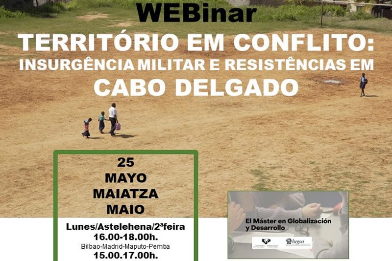 webinar Territorio em conflito: Cabo Delgado