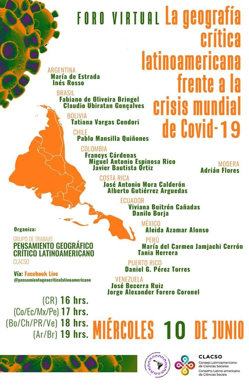 La geografia critica latinoamericana frente a la crisis mundial de Covid-19