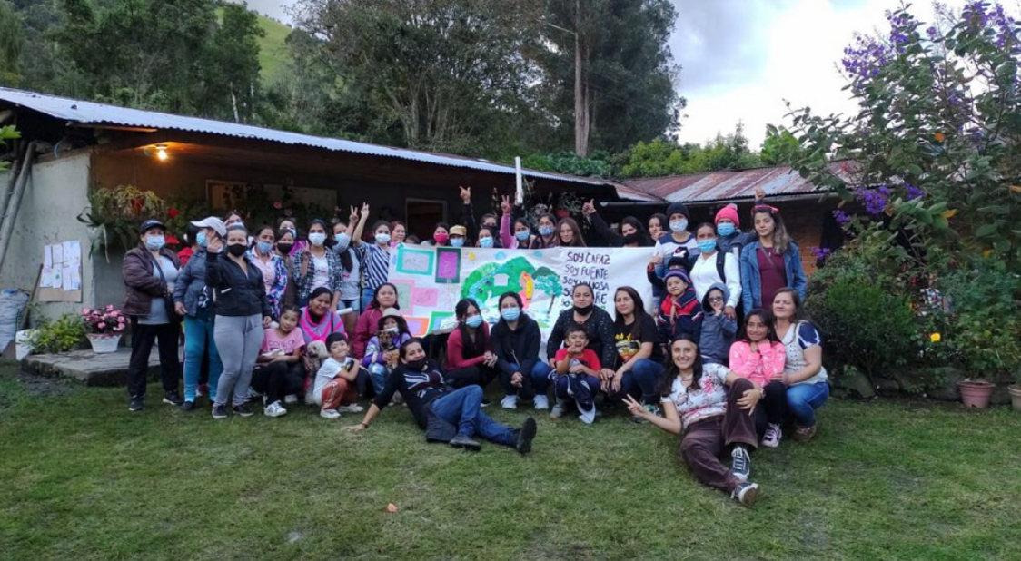 taller de mujeres en Cajamarca - Colombia